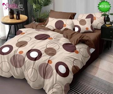 Спално бельо от 100% памук, 6 части, двулицево с код M3-310