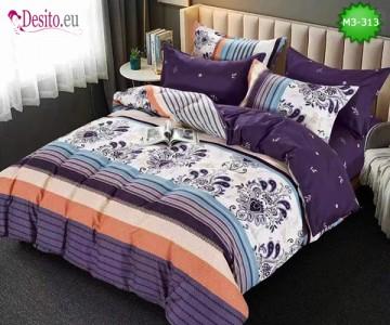 Спално бельо от 100% памук, 6 части, двулицево с код M3-313