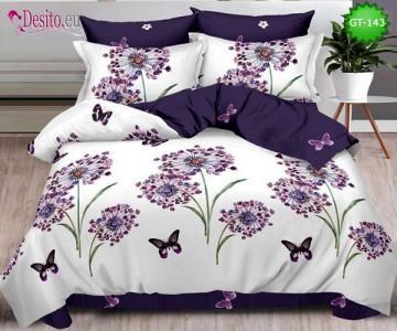 Спално бельо от 100% памук, 6 части и чаршаф с ластик с код GT-143
