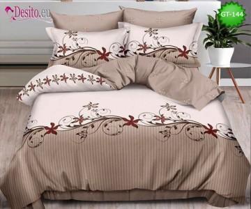Спално бельо от 100% памук, 6 части и чаршаф с ластик с код GT-144