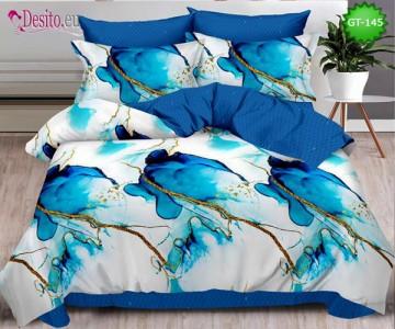Спално бельо от 100% памук, 6 части и чаршаф с ластик с код GT-145