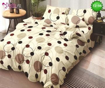 Спално бельо от 100% памук, 6 части - двулицево, с код T2-98