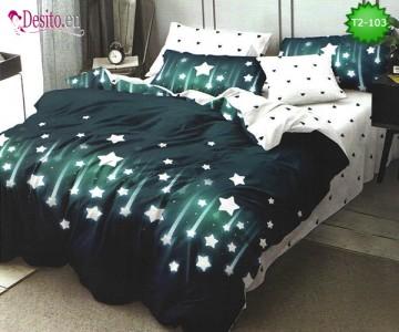 Спално бельо от 100% памук, 6 части - двулицево, с код T2-103