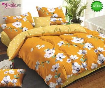 Спално бельо от 100% памук, 6 части - двулицево, с код T2-104