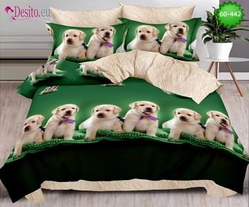 Спално бельо от 100% памук, 6 части, двулицево с код 60-442