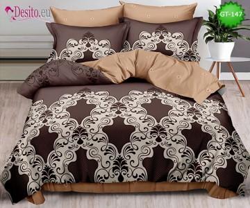 Спално бельо от 100% памук, 6 части и чаршаф с ластик с код GT-147