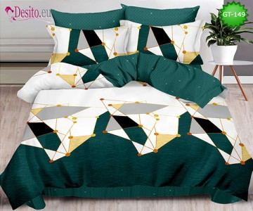 Спално бельо от 100% памук, 6 части и чаршаф с ластик с код GT-149
