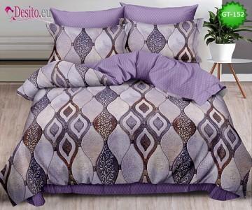 Спално бельо от 100% памук, 6 части и чаршаф с ластик с код GT-152