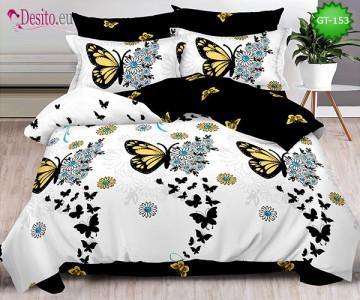 Спално бельо от 100% памук, 6 части и чаршаф с ластик с код GT-153