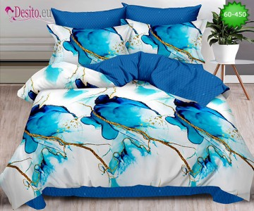 Спално бельо от 100% памук, 6 части, двулицево с код 60-450