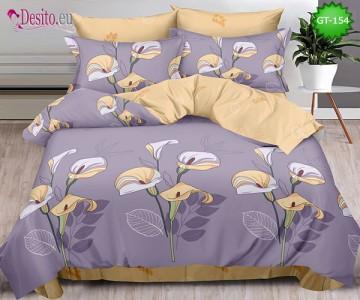 Спално бельо от 100% памук, 6 части и чаршаф с ластик с код GT-154