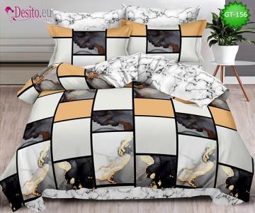 Спално бельо от 100% памук, 6 части и чаршаф с ластик с код GT-156