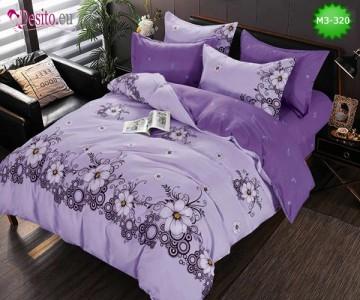 Спално бельо от 100% памук, 6 части, двулицево с код M3-320