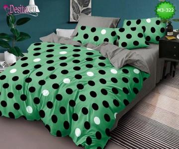 Спално бельо от 100% памук, 6 части, двулицево с код M3-322