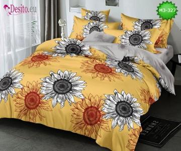 Спално бельо от 100% памук, 6 части, двулицево с код M3-327