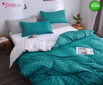 Двулицево спално бельо от 100% памук, 4 части с код 50-422