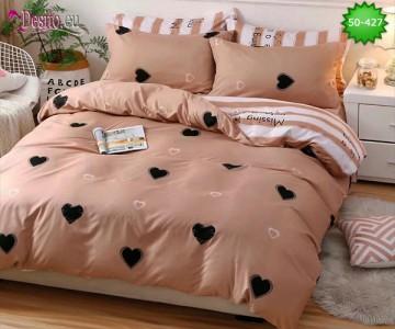 Двулицево спално бельо от 100% памук, 4 части с код 50-427