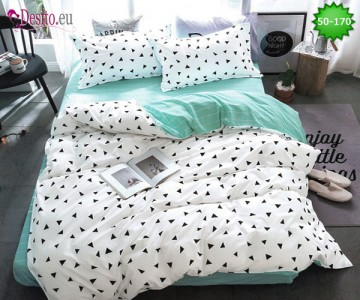 Двулицево спално бельо от 100% памук, 4 части с код 50-170