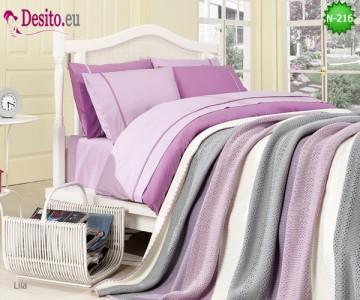 Спален комплект с плетено одеало N-216