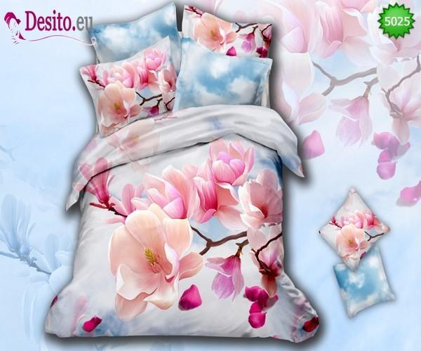 3D Спално бельо от памучен сатен - 5025