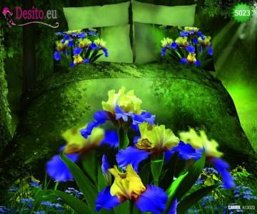 3D Спално бельо от памучен сатен - 5023