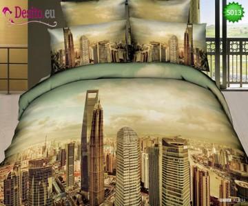 3D Спално бельо от памучен сатен - 5013