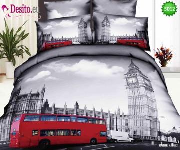 3D Спално бельо от памучен сатен - 5012