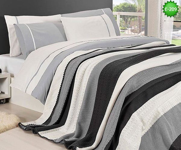 Двулицево единично спално бельо с одеало Е-209