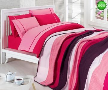 Двулицево единично спално бельо с одеало Е-205