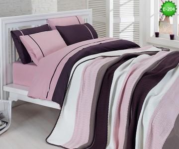 Двулицево единично спално бельо с одеало Е-204