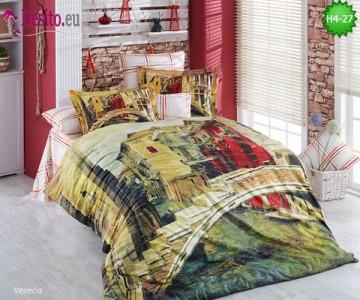 3D спално бельо от памучен сатен H4-27