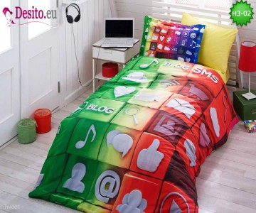 3D Единично спално бельо H3-02