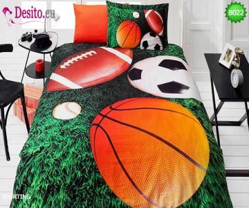 3D Единичен спален комплект B022 Sporting