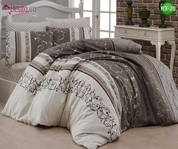 Спален комплект от 100% памук ранфорс, двоен размер с код R3-20