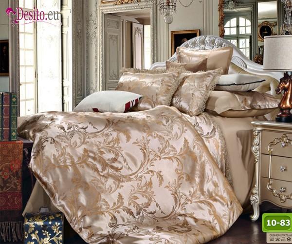 Луксозно спално бельо от памук-сатен с жакард 10-83