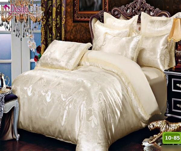 Луксозно спално бельо от памук-сатен с жакард 10-85