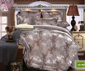Луксозно спално бельо от памук-сатен с жакард 10-88