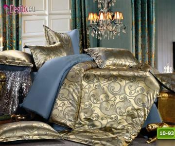 Луксозно спално бельо от памук-сатен с жакард 10-93