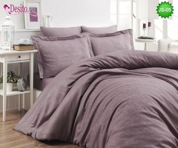 Луксозно спално бельо от памук-сатен с жакард JS-05