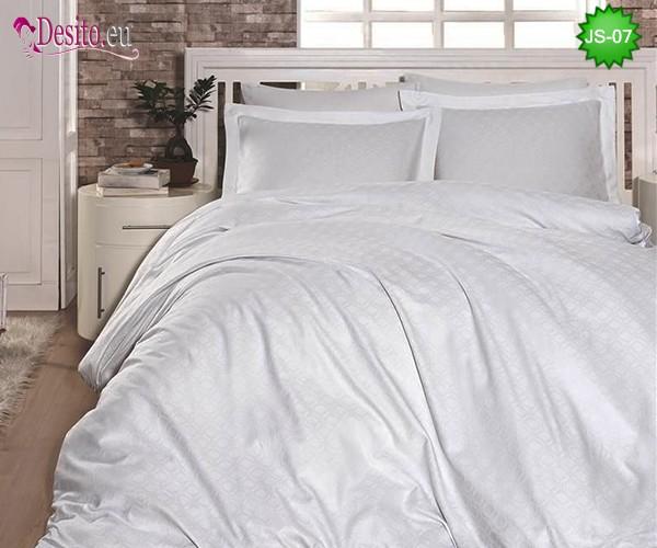 Луксозно спално бельо от памук-сатен с жакард JS-07