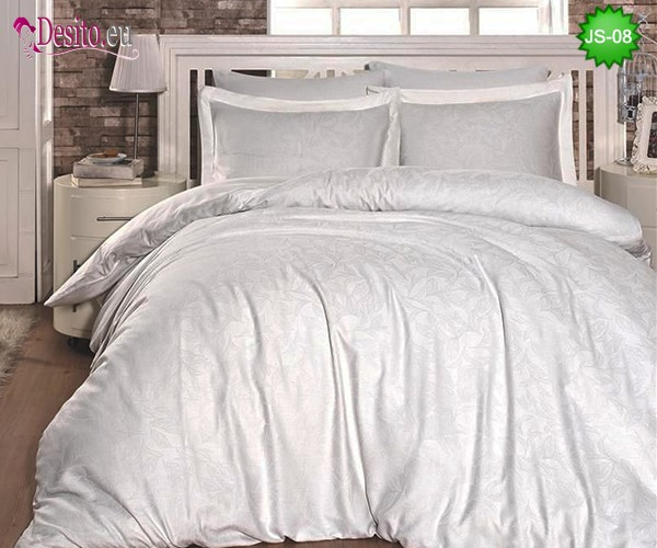 Луксозно спално бельо от памук-сатен с жакард JS-08