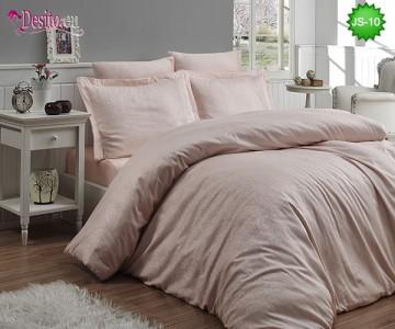 Луксозно спално бельо от памук-сатен с жакард JS-10