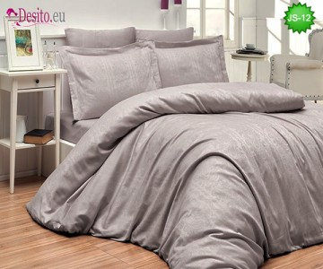 Луксозно спално бельо от памук-сатен с жакард JS-12