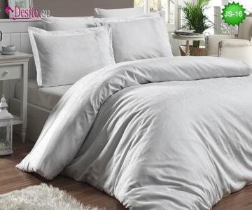 Луксозно спално бельо от памук-сатен с жакард JS-16