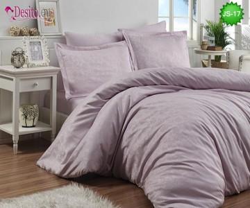Луксозно спално бельо от памук-сатен с жакард JS-17