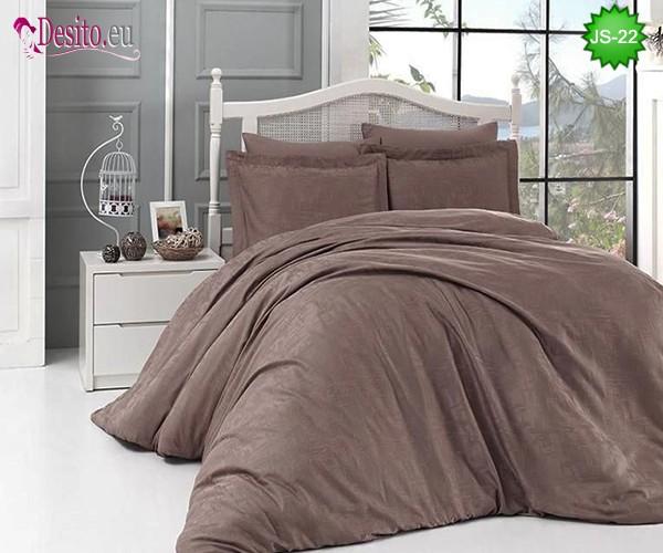 Луксозно спално бельо от памук-сатен с жакард JS-22