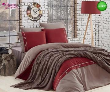 Спален комплект с плетено одеало N-302
