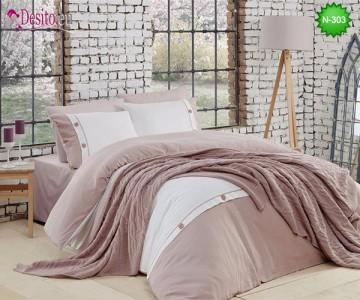 Спален комплект с плетено одеало N-303