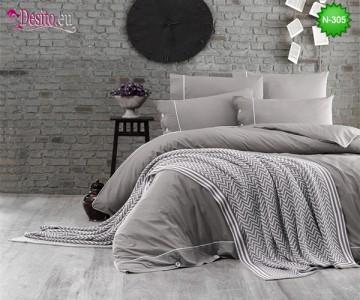 Спален комплект с плетено одеало N-305