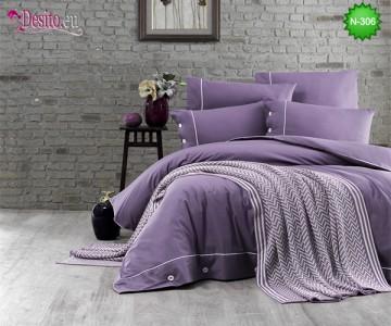 Спален комплект с плетено одеало N-306